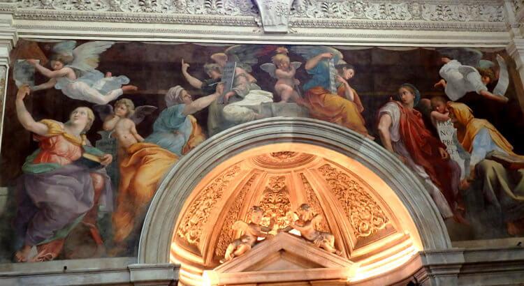 chiesa santa maria della pace raffaello sanzio sibille
