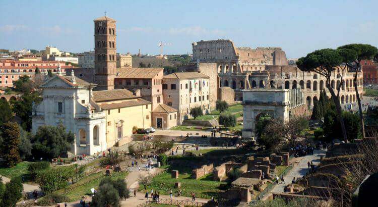 chiesa santa francesca romana roma fori romani