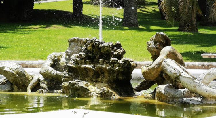 orto botanico di roma fontana dei tritoni