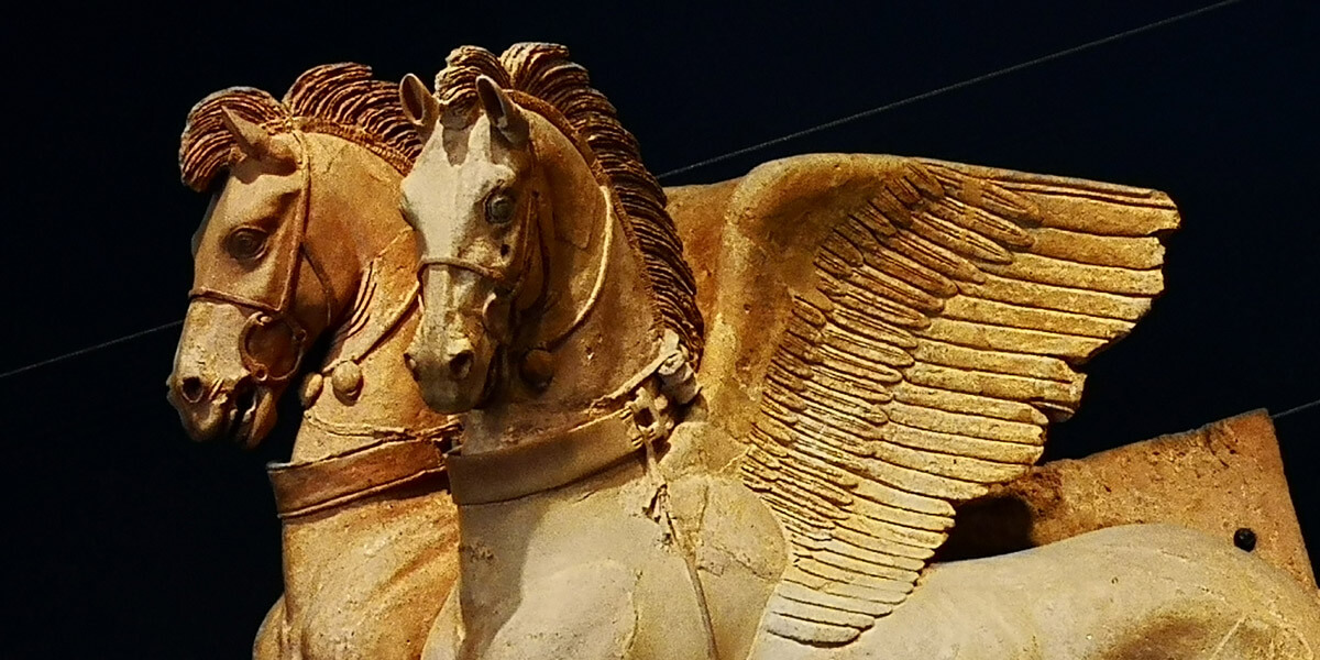 tarquinia cavalli alati etruschi